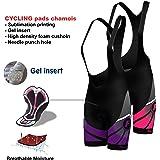 FDX Women's Cycling Bib Shorts 3D Gel Padded Cycling Pants Bike Shorts