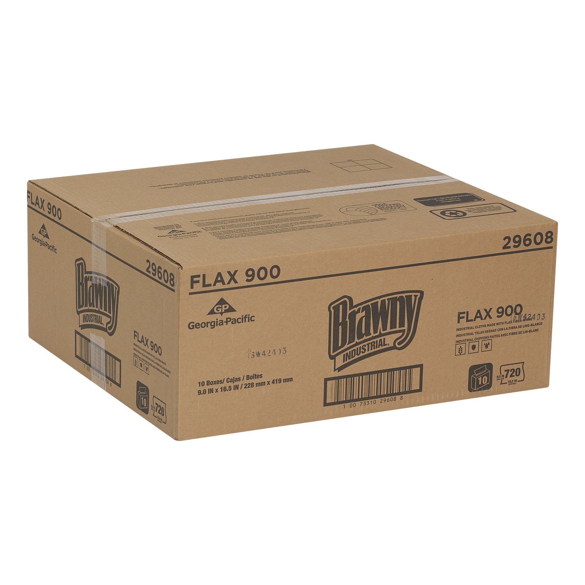 Brawny Industrial 29608 FLAX 900 Heavy Duty Cloths (10 Packs of 72)