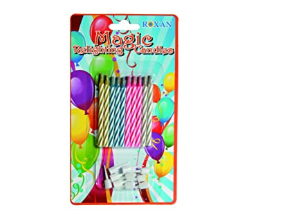 Magic Relighting Birthday Candles Amazoncouk Kitchen Home