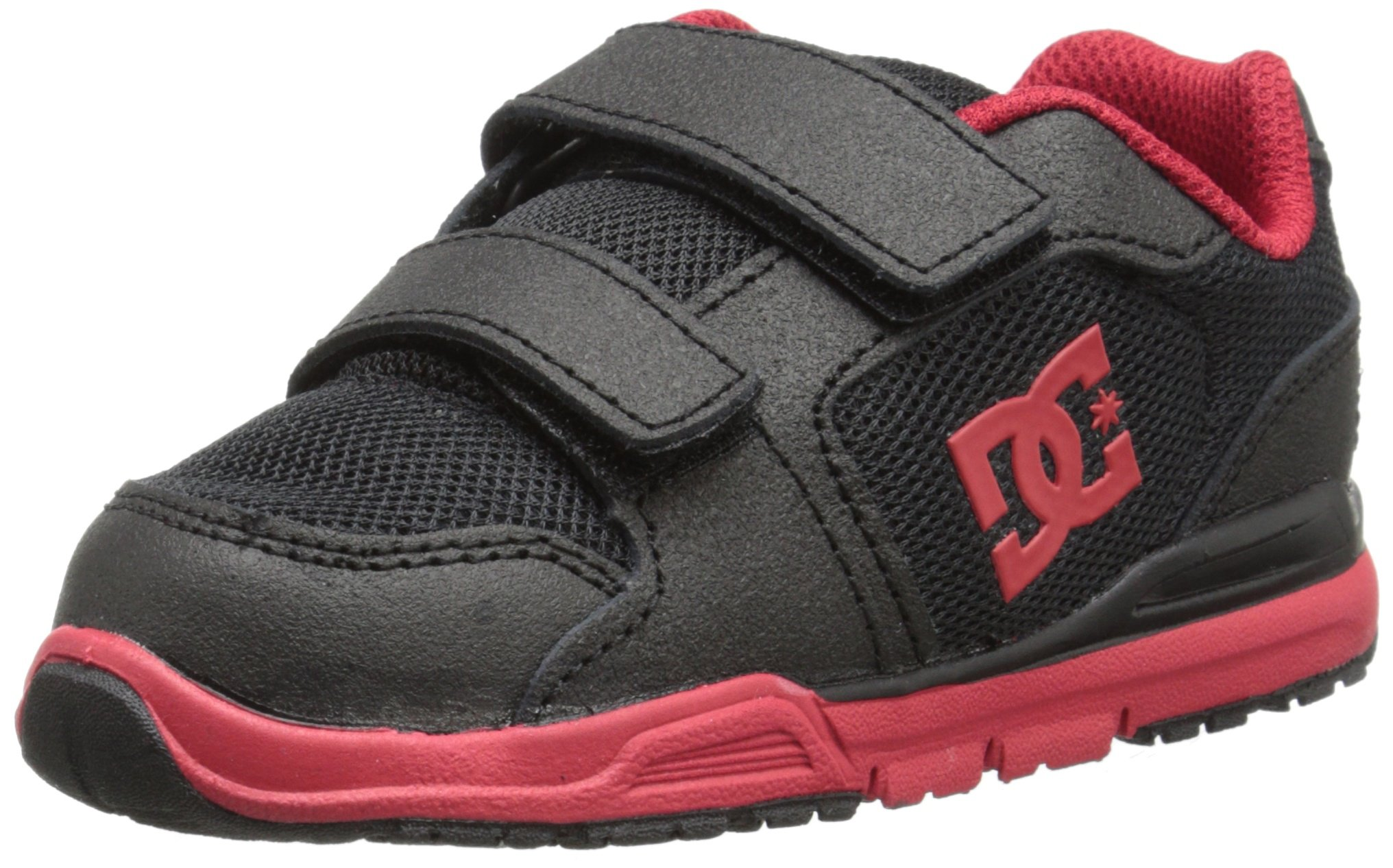 DC Shoes Baby-Girls Shoes Forter V - Low-Top Shoes - Toddler - US 7 - Black Black/Athletic Red US 7 / UK 6 / EU 23
