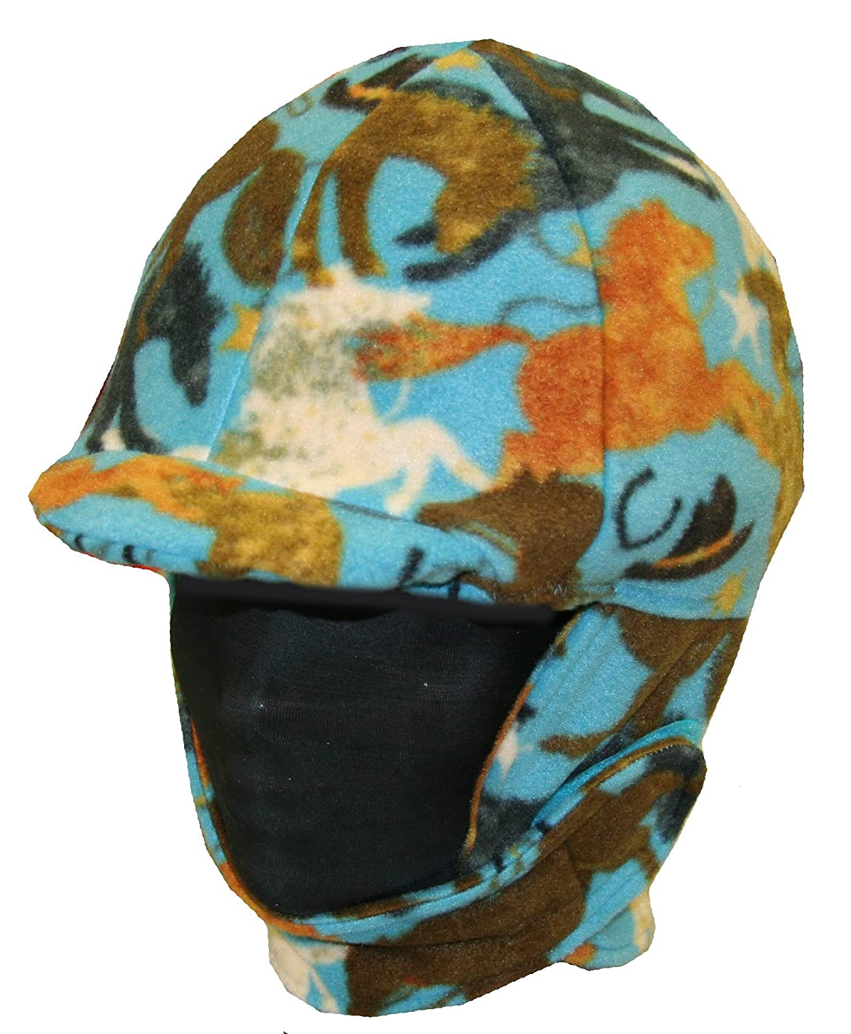 Turquoise Horse Fleece Helmet Cover Helmet Covers Etc