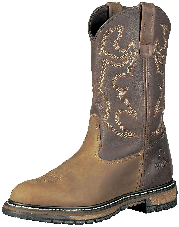 "Rocky Men's 11"" Rocky Ride Branson Roper Round Toe Western Boots-2732"