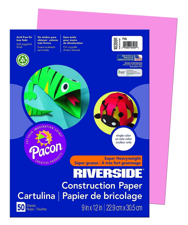 'Pacon Riverside Riverside Riverside 9  x 12  Rosa Rosa – Rolle (Rosa, 50 Blatt, 9  x 12) B00008XPE3 | Ruf zuerst  | Sofortige Lieferung  | Ausgezeichnet  5524fe