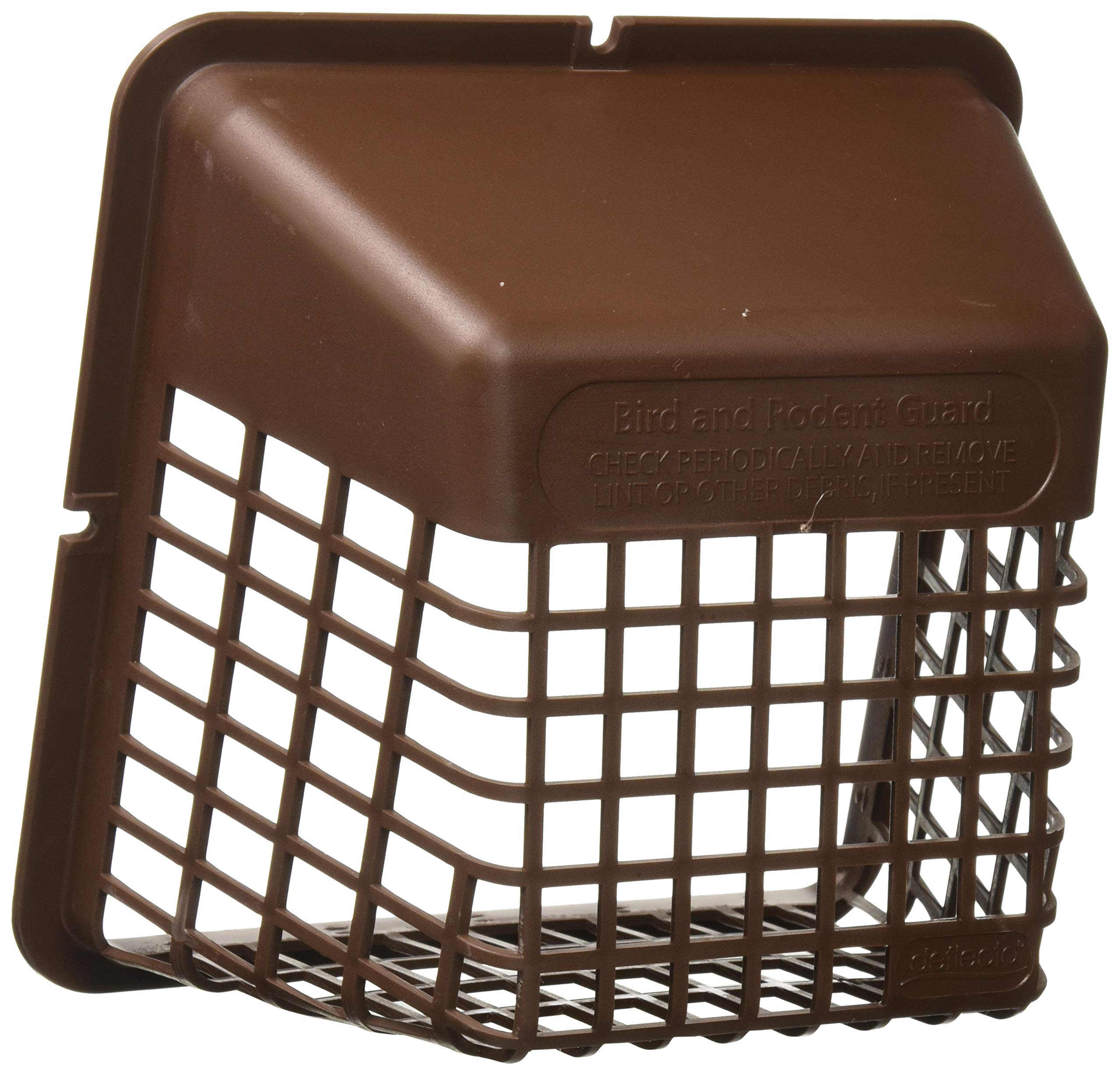 Deflecto Universal Bird Guard Dryer Vent Cover, For Use with 4 Inches Clothes Dryer Vents, Brown (UBGBB)