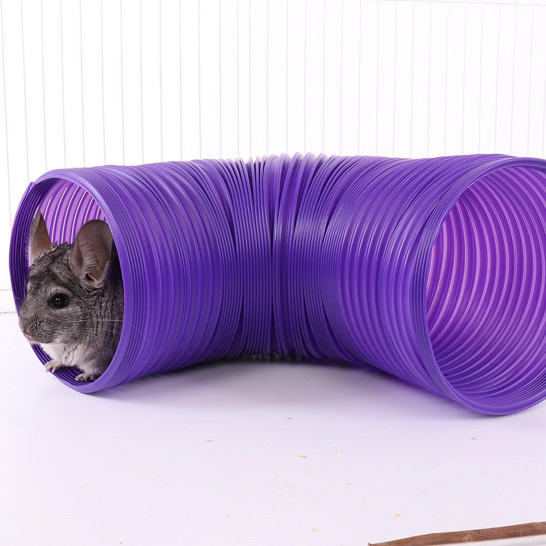 (2 Pack) Ware Plastic Small Pet Fun Tunnel, Large, Purple/Green