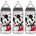 3-Pack NUK Disney Mickey Mouse 10 Ounce Orthodontic Bottle