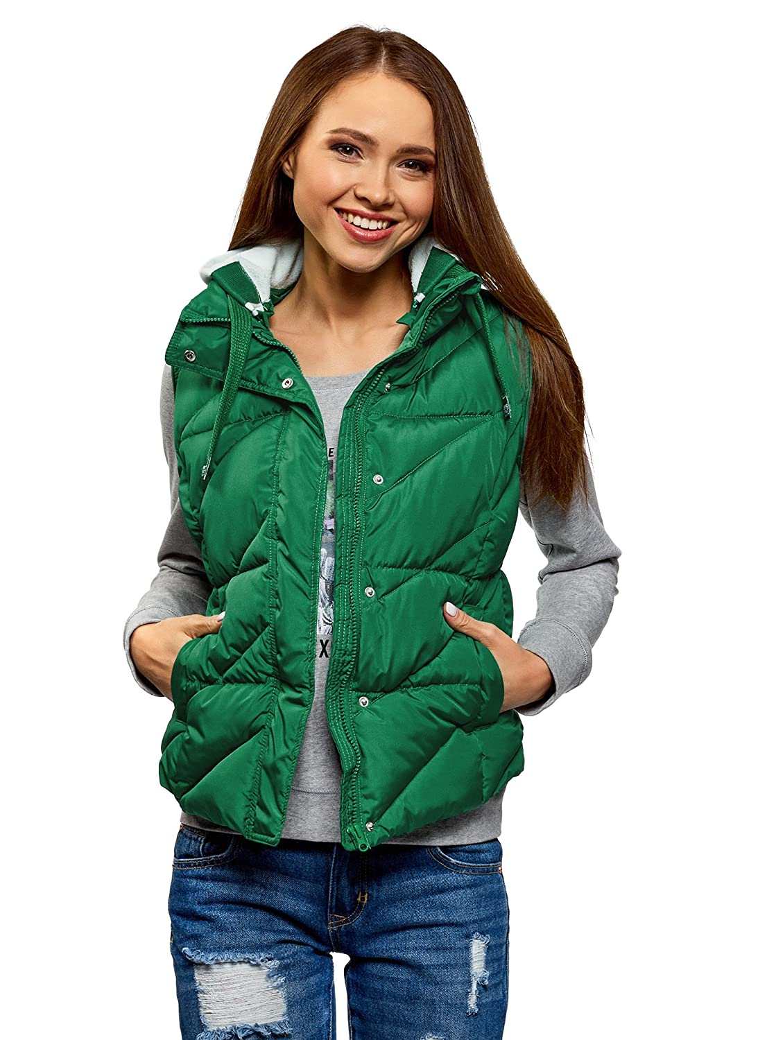 oodji Ultra Women's Hooded Quilted Vest