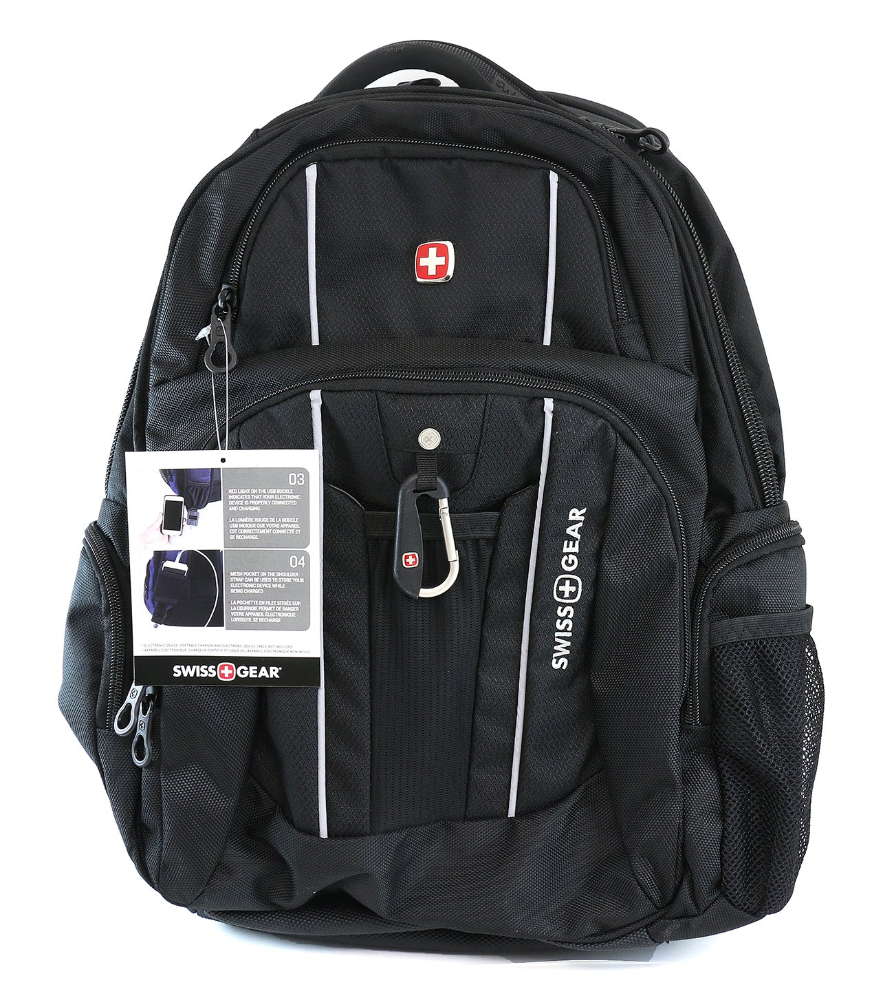 Swiss Gear - Laptop and Tablet Backpack With USB Cable Integration ...