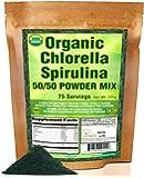 Good Natured Organic Chlorella Spirulina 50/50 Powder Mix - 75 Day Supply