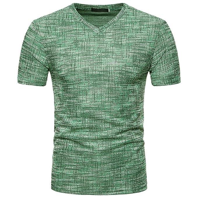 Camiseta para Hombre, Sudadera con Capucha y Cuello en V para Hombre de Verano SOID