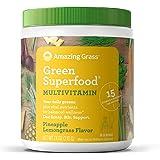 Amazing Grass Green Superfood Multi-Vitamin: Organic Plant Based Multi-Vitamin Powder packed with 15+ Vitamins…