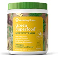 Amazing Grass Green Superfood Multi-Vitamin: Organic Plant Based Multi-Vitamin Powder packed with 15+ Vitamins…