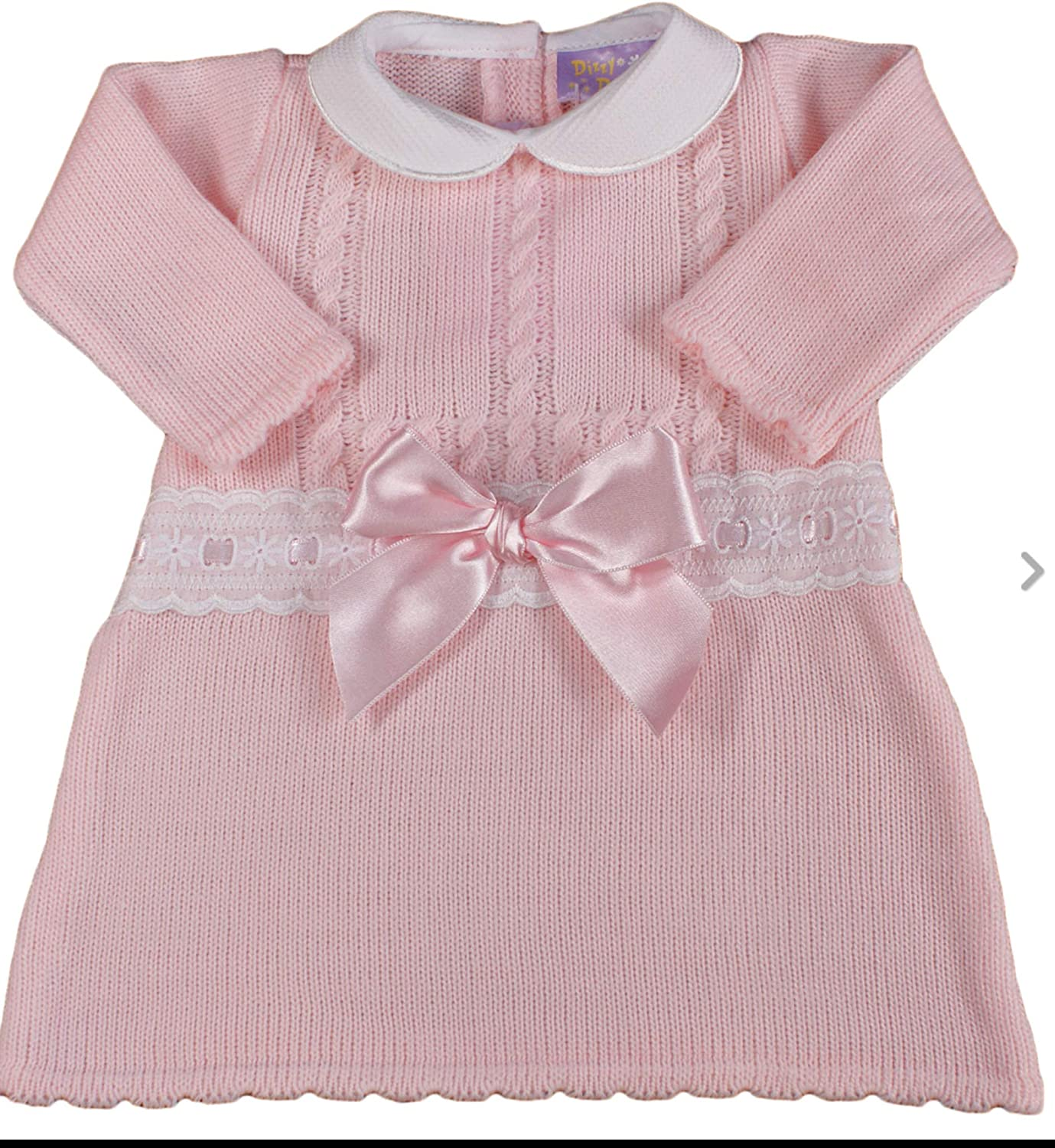 Baby girl DRESS knitted Spanish style BOW