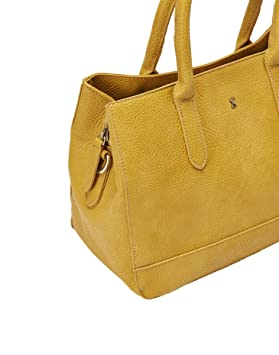 6fe1d28921bf2 Joules Thernwell PU Tumbled Everyday Bag - SS19 Antique Gold One-Size   Amazon.co.uk  Clothing