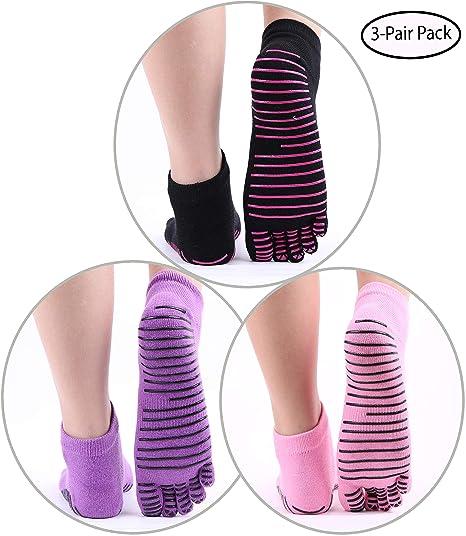 Yoga Floor Socks Non Slip Ideal for Pilates and Bare Hospital floors