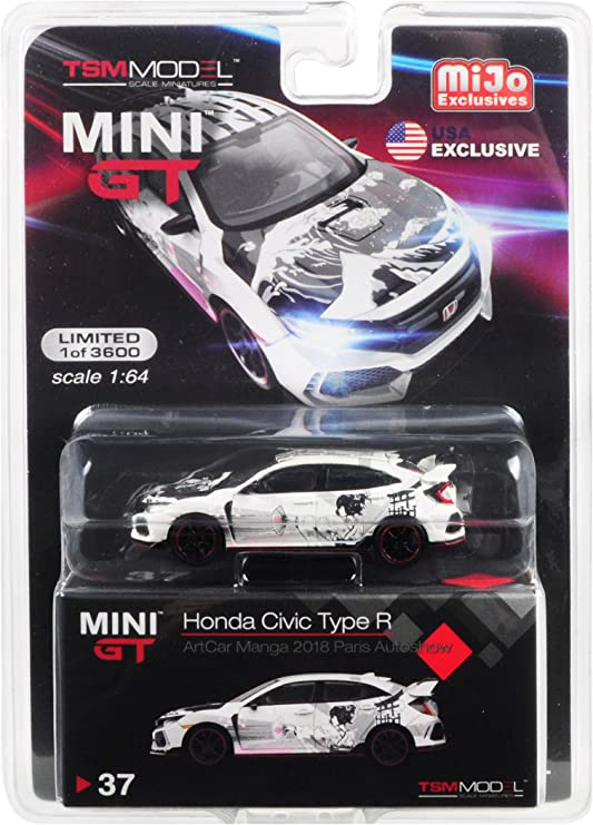 1//64 MINI GT Honda Civic Type R FK8 Championship White Modulo kit LHD In Stock