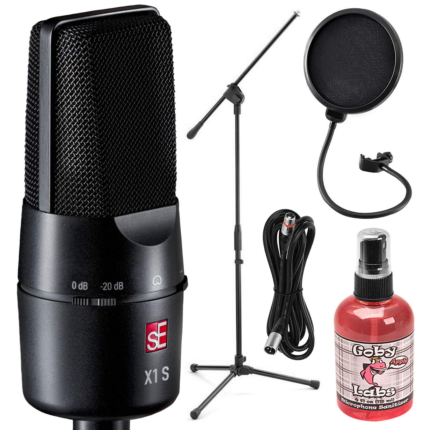 sE Electronics sE X1R Ribbon Microphone with Microphone Boom Stand & Deluxe Accessory Bundle