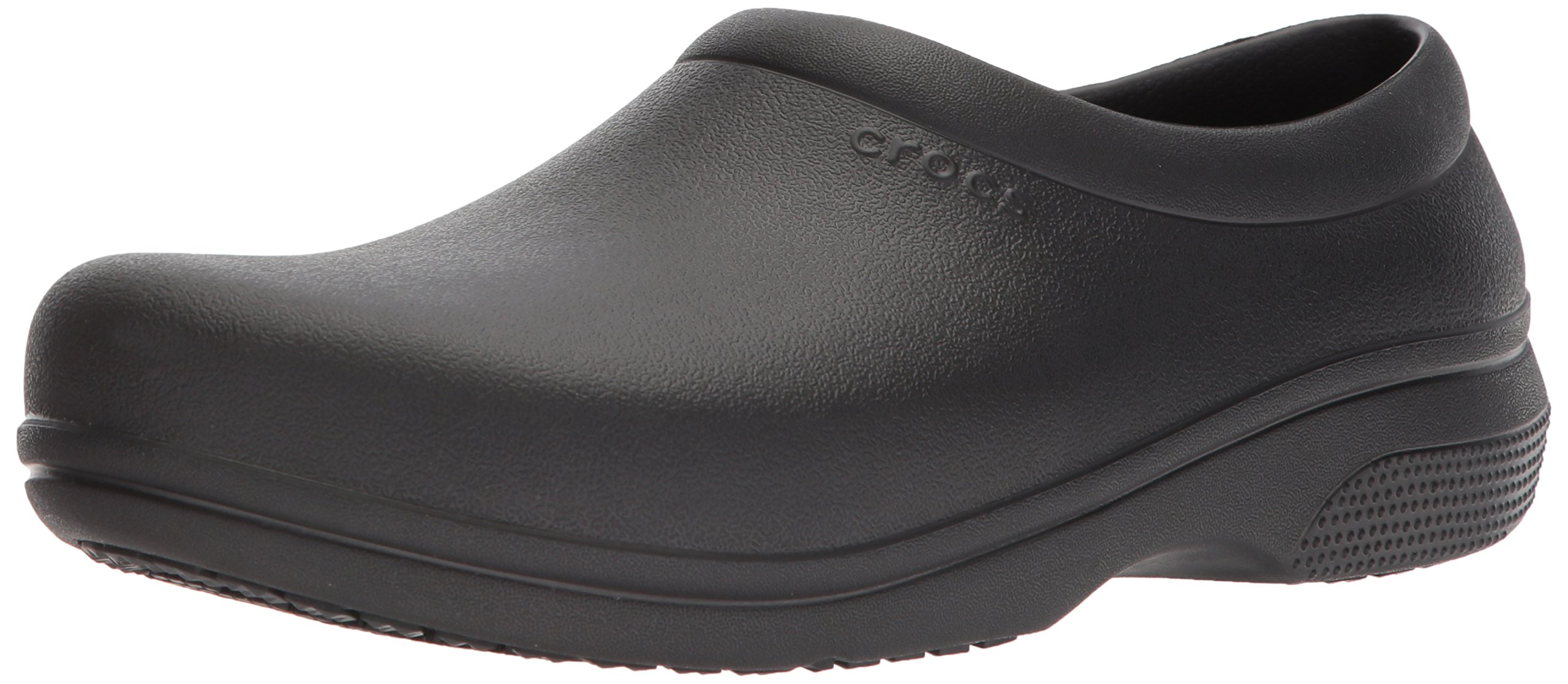 Crocs on The Clock Work Slipon Medical Professional Shoe, Black, 8 US Men/10 US Women M US by Crocs