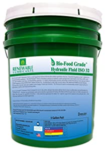 Renewable Lubricants Bio-Food Grade ISO 32 Hydraulic Fluid, 5 Gallon Pail