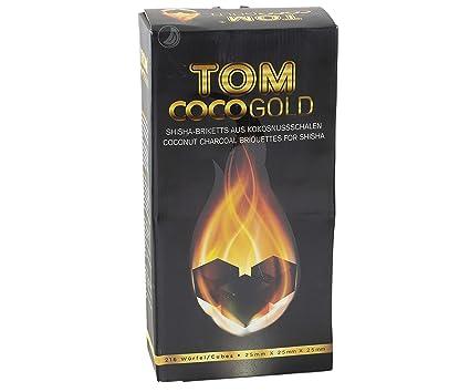 Tom Cococha Oro, 3 kg, Shisha carbón de cáscaras Pipa de agua/Hookah