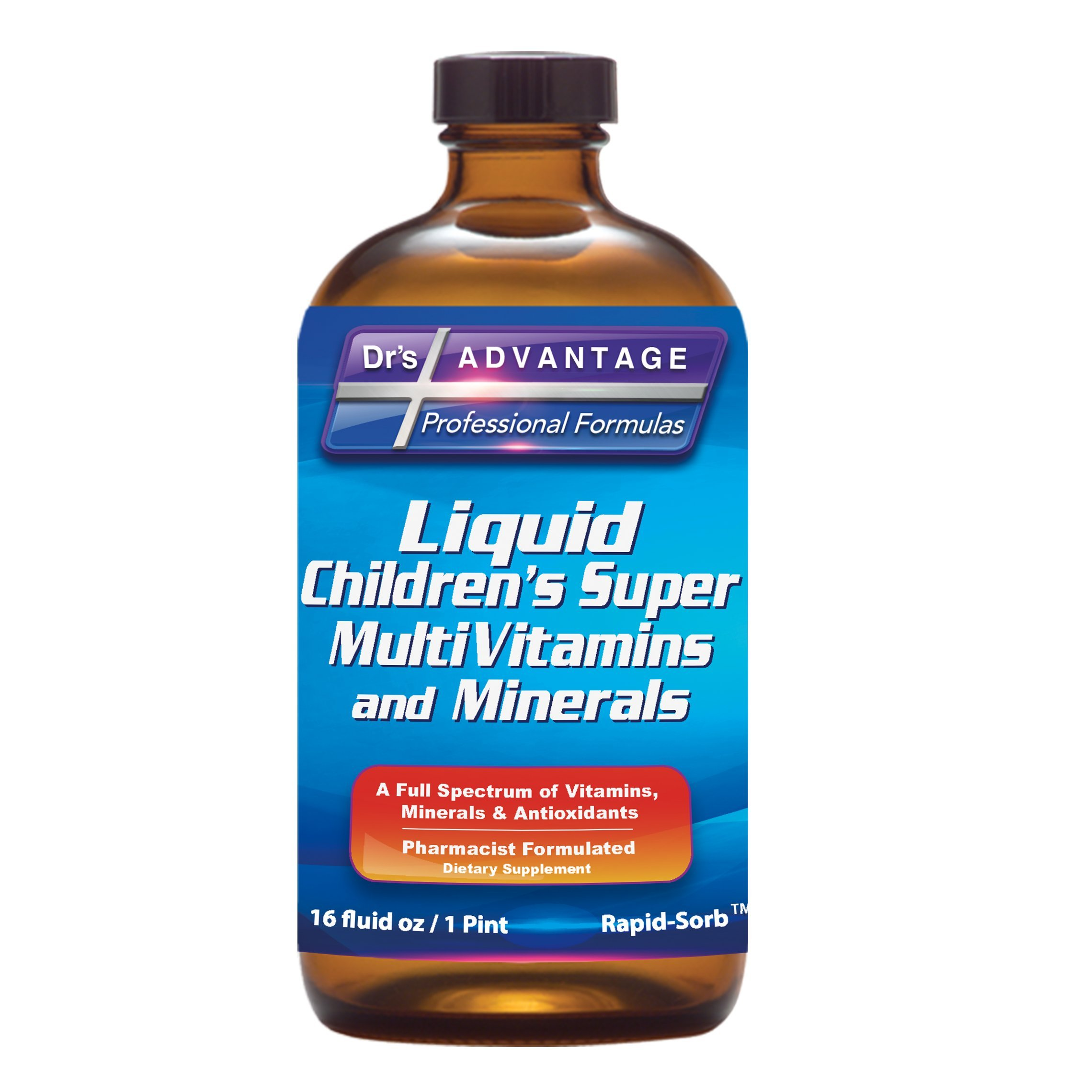 Dr's Advantage DA862 Liquid Children's Multivitamin and Minerals, 16 oz.