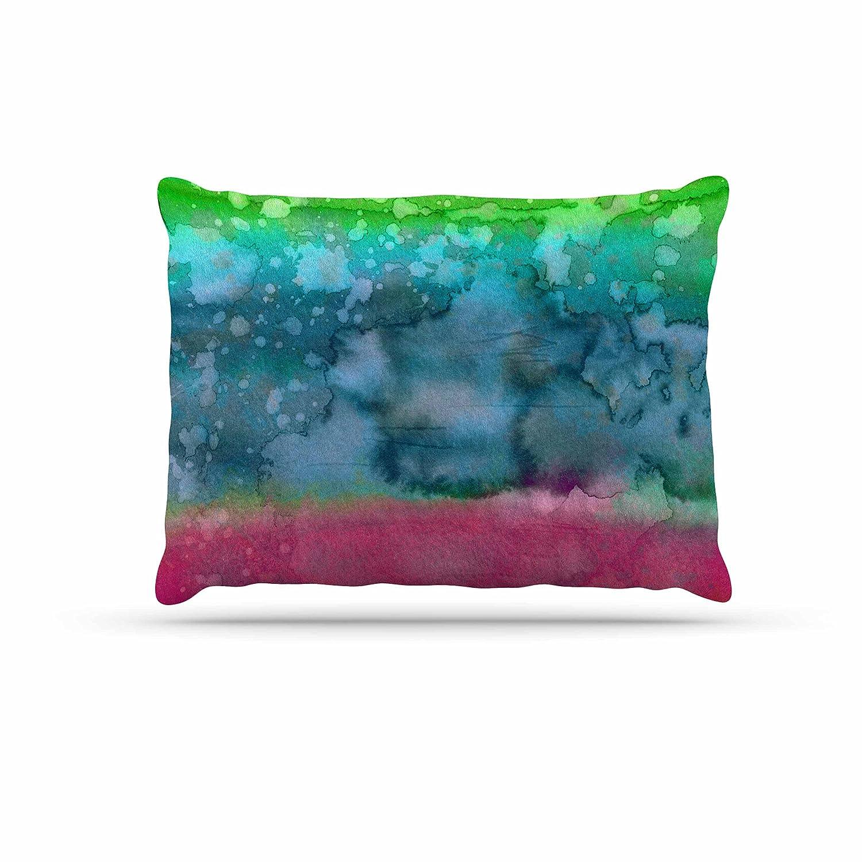 KESS InHouse EBI Emporium Marble Idea -Light Teal Aqua bluee Dog Bed, 50  x 40