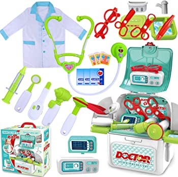 INNOCHEER Kids Roleplay Doctor Kit Toys