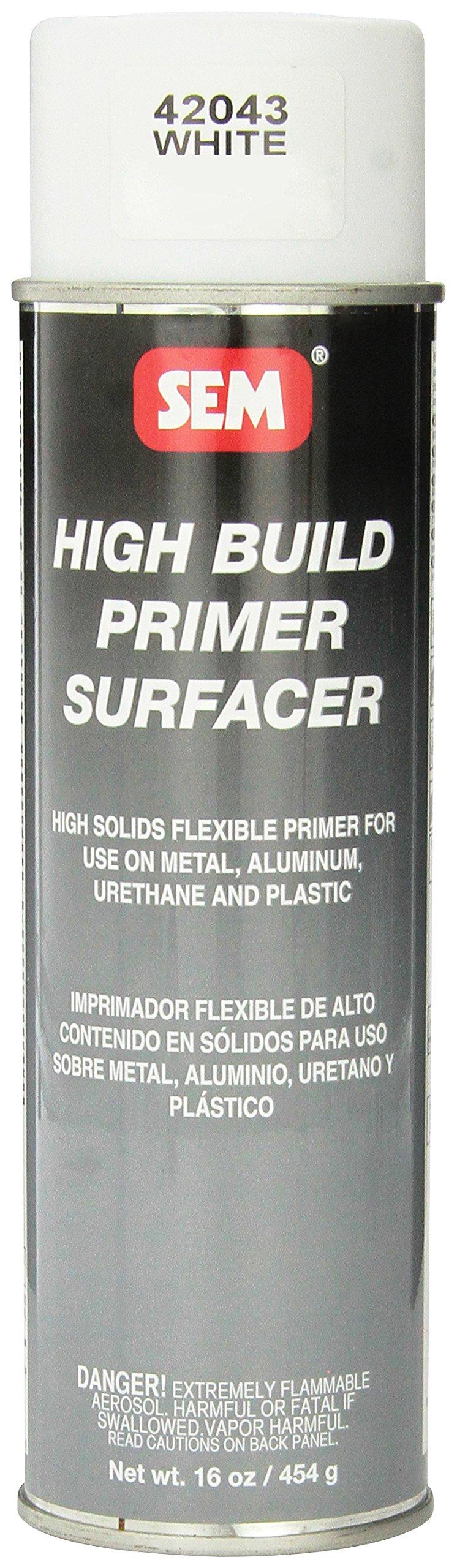 SEM 42043 White High Build Primer - 16 oz.