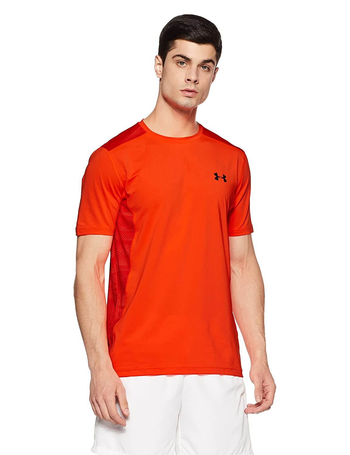 (アンダーアーマー) UNDER ARMOUR ヒットヒートギアSS(トレーニング/Tシャツ/MEN)[1257466] B01M27599L Large|Magma Orange/Stealth Gray Magma Orange/Stealth Gray Large