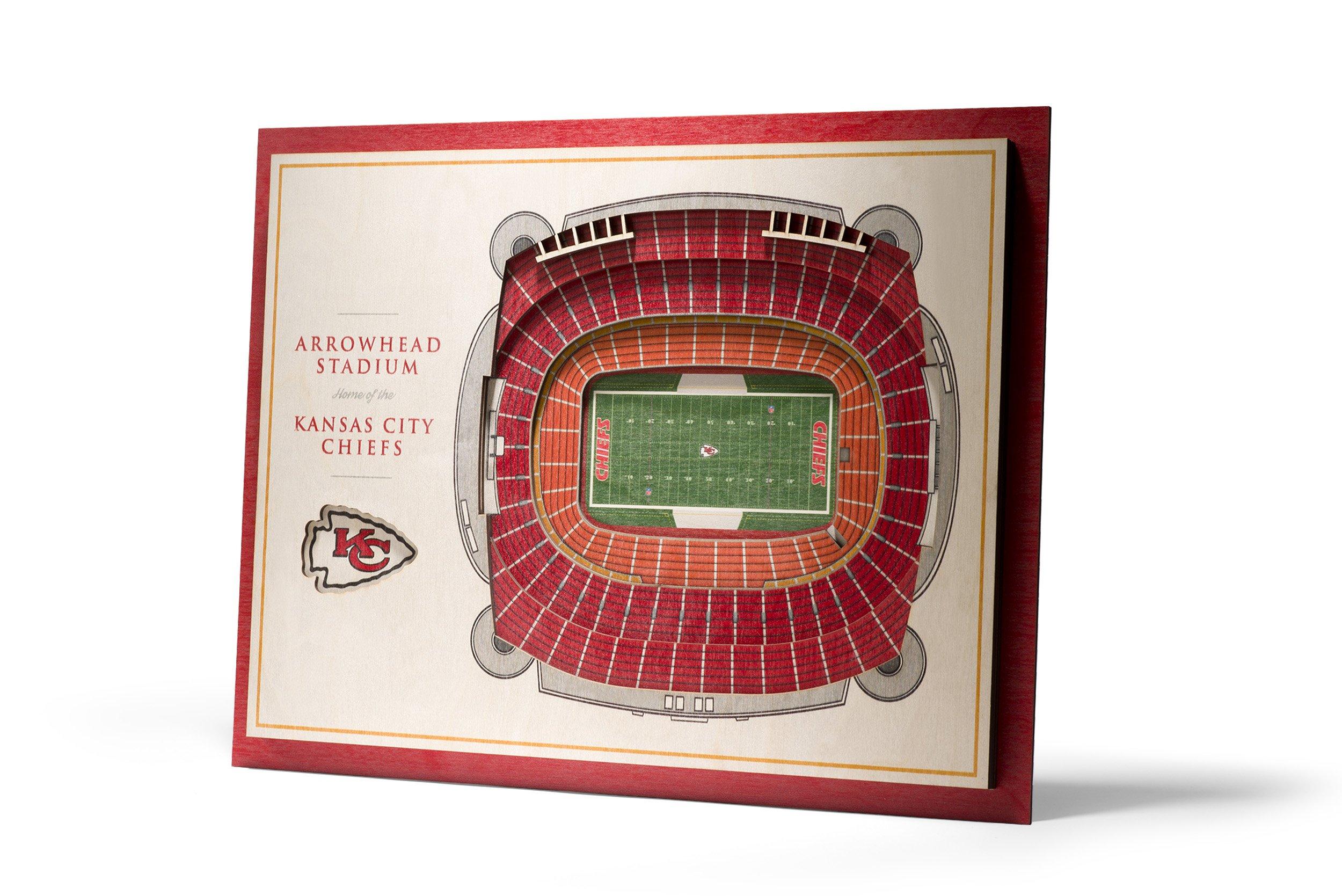 NFL Kansas City Chiefs 5-Layer Stadiumviews 3D Wall Art by YouTheFan