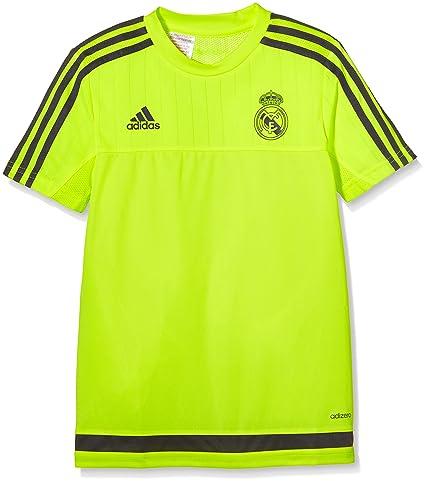 adidas Real Madrid CF TRG JSY Y - Camiseta para niños, Color Amarillo/Gris