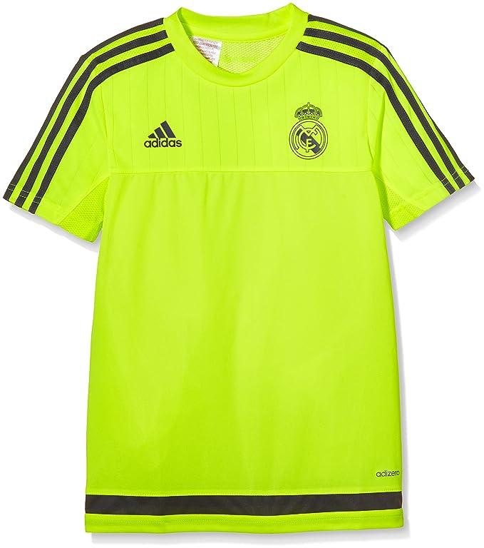 Adidas Real Madrid CF TRG JSY Y - Camiseta para niños, Color Amarillo/Gris, Talla 164: Amazon.es: Zapatos y complementos