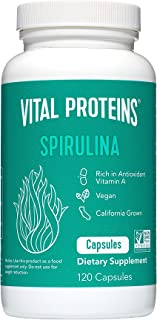 product image for Spirulina Powder Pills 650mg 120 Capsules - Vital Proteins High in Vitamin A & K, Vegan Friendly A