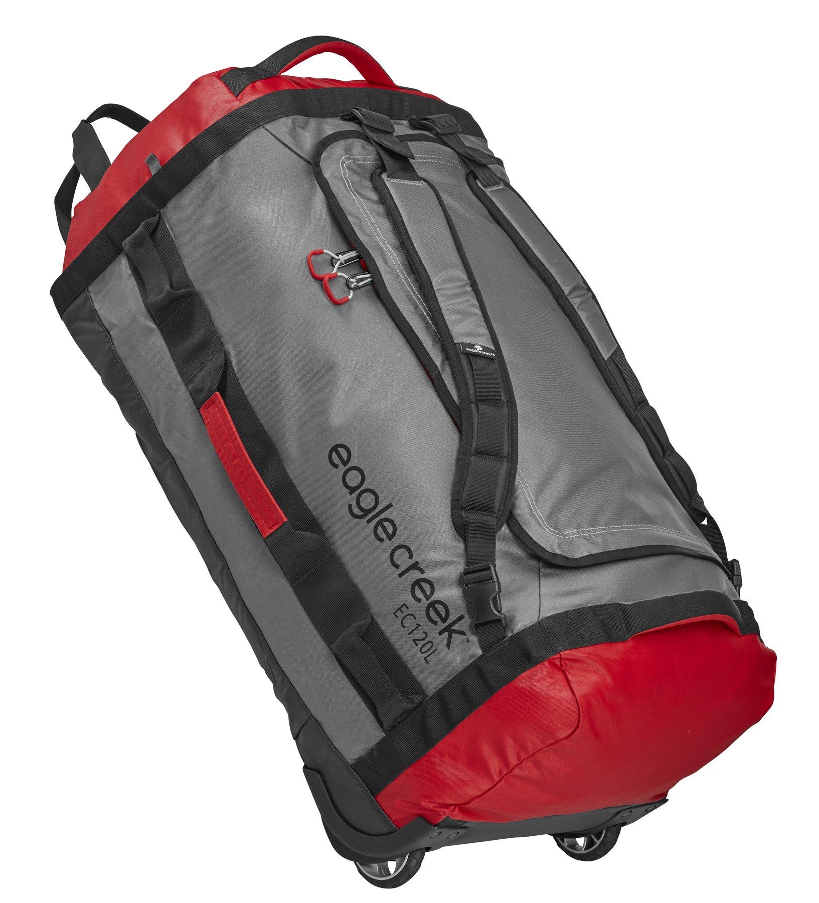 Cargo Hauler Rolling Duffel ultraleichter Backpacker mit Rucksackträgern und Rollen, 120 L