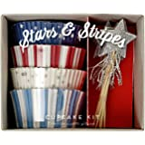 Meri Meri 45-1597 Stars and Stripes Cupcake Kit Novelty
