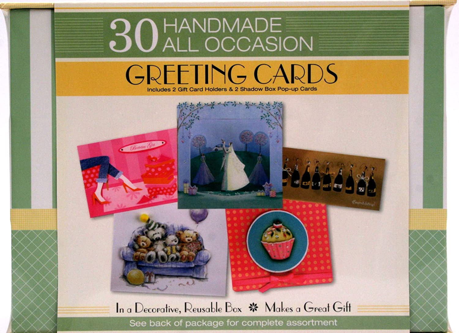 Amazon 30 Handmade All Occasion Greeting Cards In A Decorative
