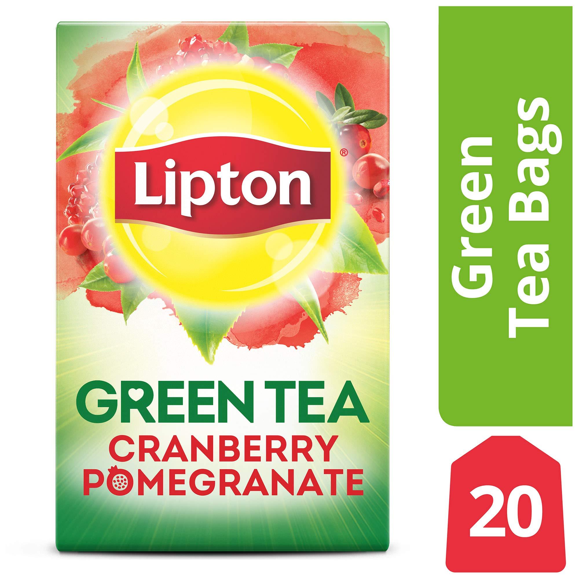 Lipton Green Tea Bags, Cranberry Pomegranate, 20 ct