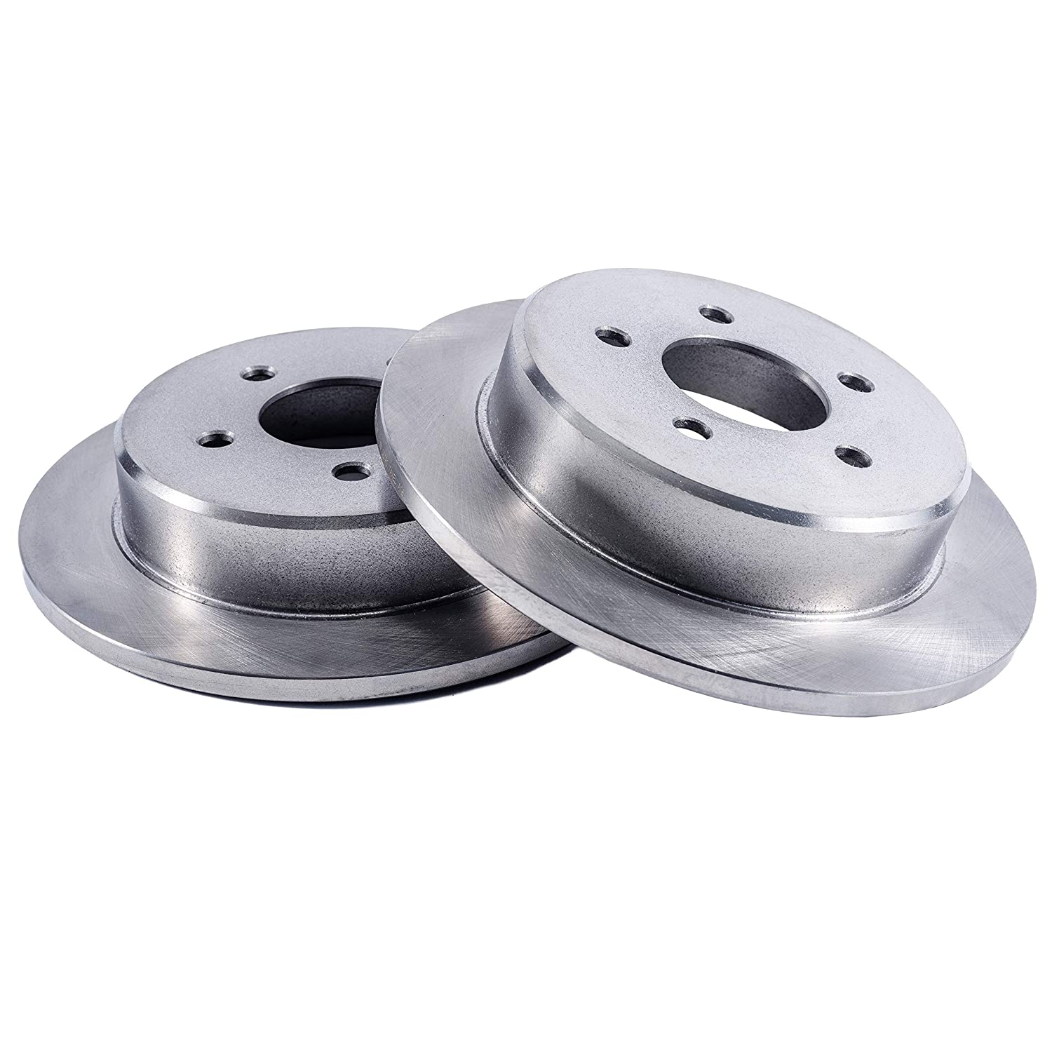 Detroit Axle Pair 2013-2016 Escape 2 Rear Drilled and Slotted Disc Brake Rotors w//Ceramic Pads w//Hardware for 2013-2017 Ford C-Max - - 2014-2017 Transit Connect