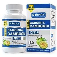 G-Biotics Garcinia Cambogia Reines Extrakt – HOCHGRADIGES Ergänzungsmittel für den Gewichtsverlust - 60% HCA - 180 Vegetarische Kapseln