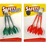 Soft Tip Kunststoff Darts - Fit für ActionDart Sicherheit Kunststoff Dartboard - 3 Darts jeweils in Grün und Rot (Rot und Grün)