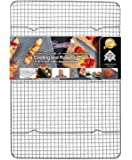 KITCHENATICS Half Sheet 100% Stainless Steel Roasting & Cooling Rack, 1/2 Sheet Rust Proof Rack with Patent-Pending…