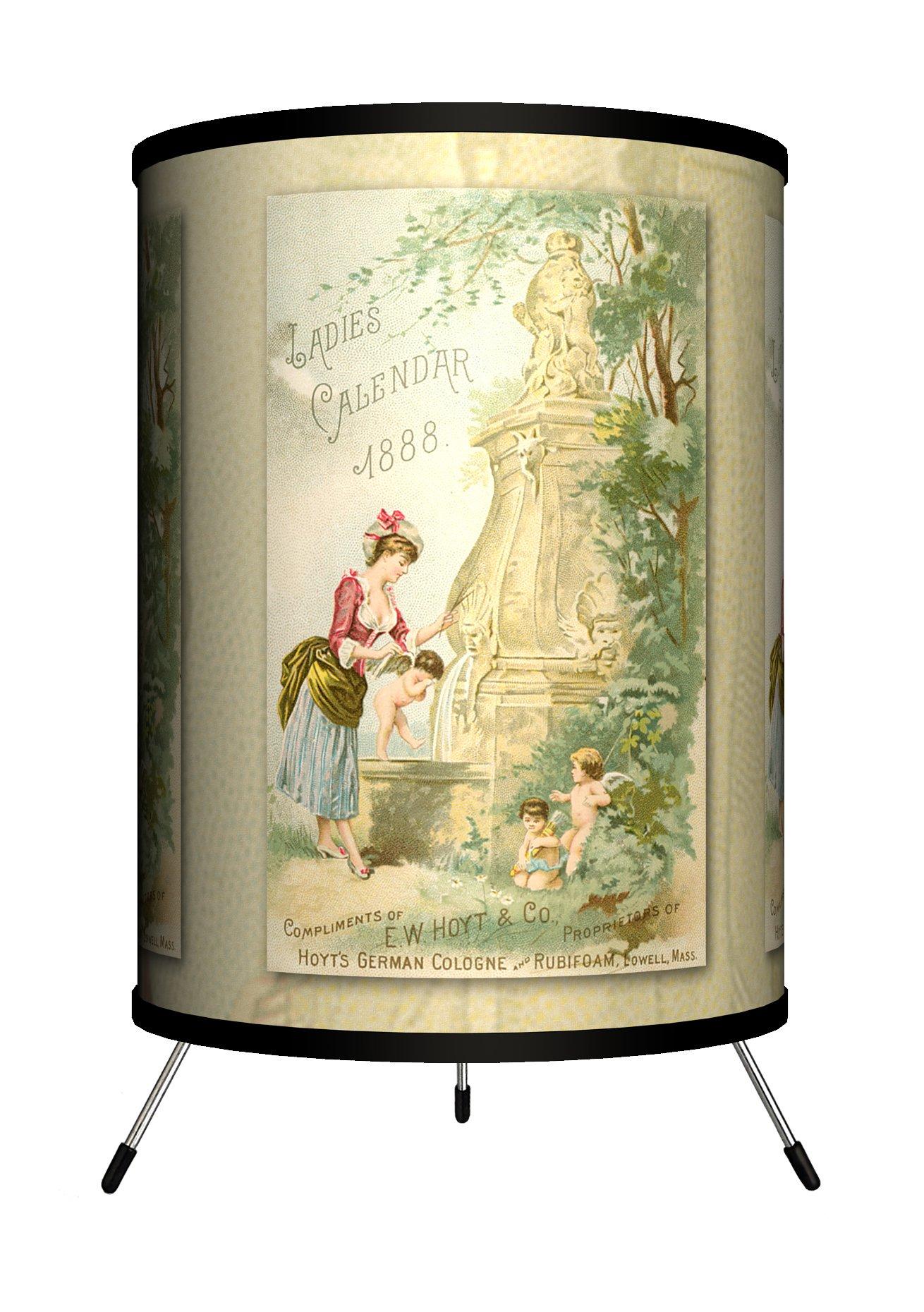 Lamp-In-A-Box TRI-VLB-LCAL1 Vintage Labels - Ladies Calendar 1 Tripod Lamp