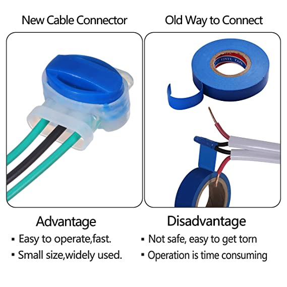 KWOKWEI - Conectores de cable (20 unidades, impermeables ...
