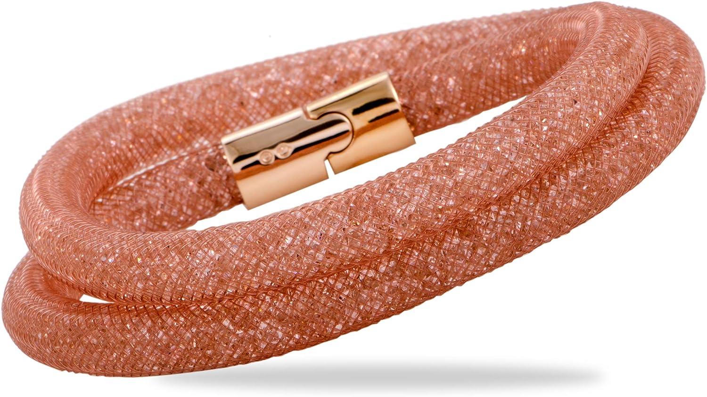 Swarovski Stardust Pink Double Wrap Bracelet 5089853