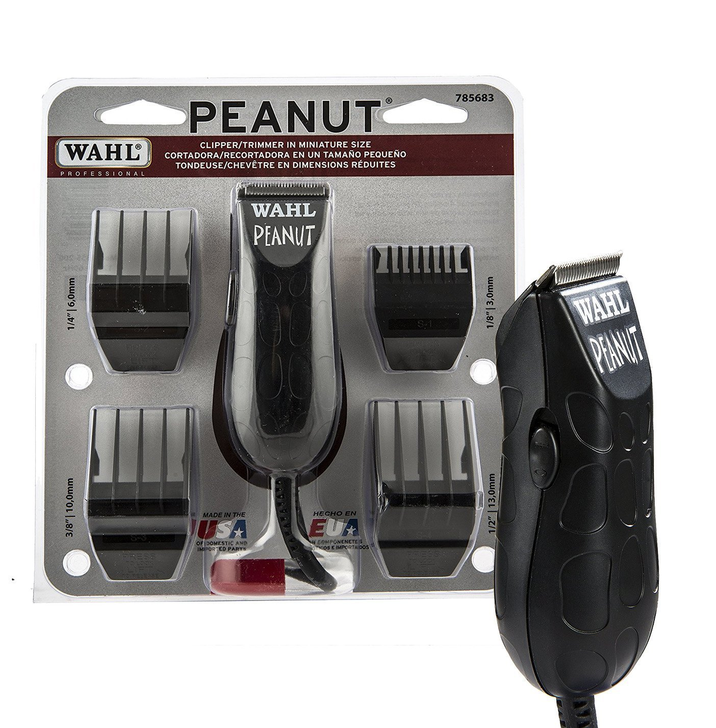 Wahl Professional Peanut Clipper/Trimmer #8655 with Travel Storage Case #90728 – Great for Barbers and Stylists by Wahl Professional (Image #2)