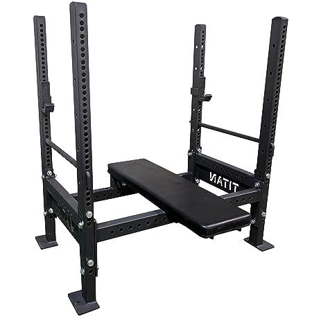 amazon com titan bench press rack sports outdoors