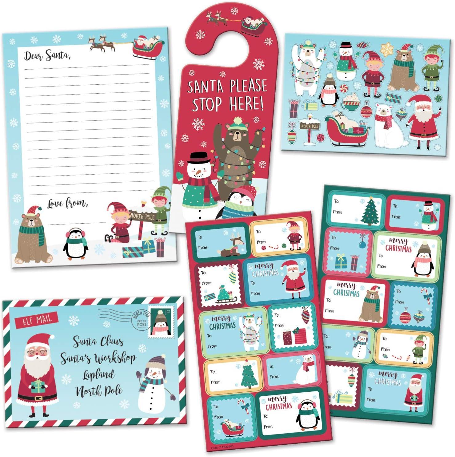 North Pole Door Hanger Santa Stop Here Door Hanger Santa Door Hanger Christmas Door Hanger
