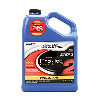 Camco Pro-Tec Rubber Roof Protectant Gallon - Reduces Roof Chalking and Resists Dirt, Helps Extend the Life of RV and Trailer Rubber Roofs (41448): Automotive