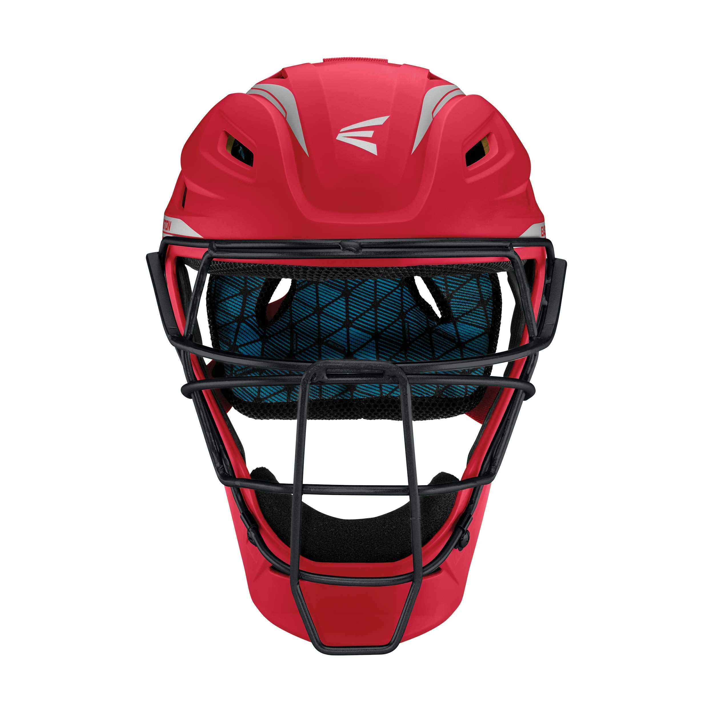 Easton Pro x Catchers Helmet Pro-X C-Helmet Rd/Sl S, Red/ Silver, Small by Easton