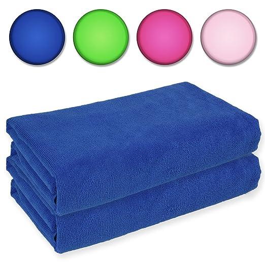 7 opinioni per Belmalia 2 Asciugamani in microfibra XXL molto assorbente e ad asciugatura